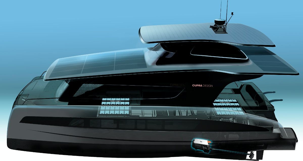 Catamarano elettrico ad energia solare