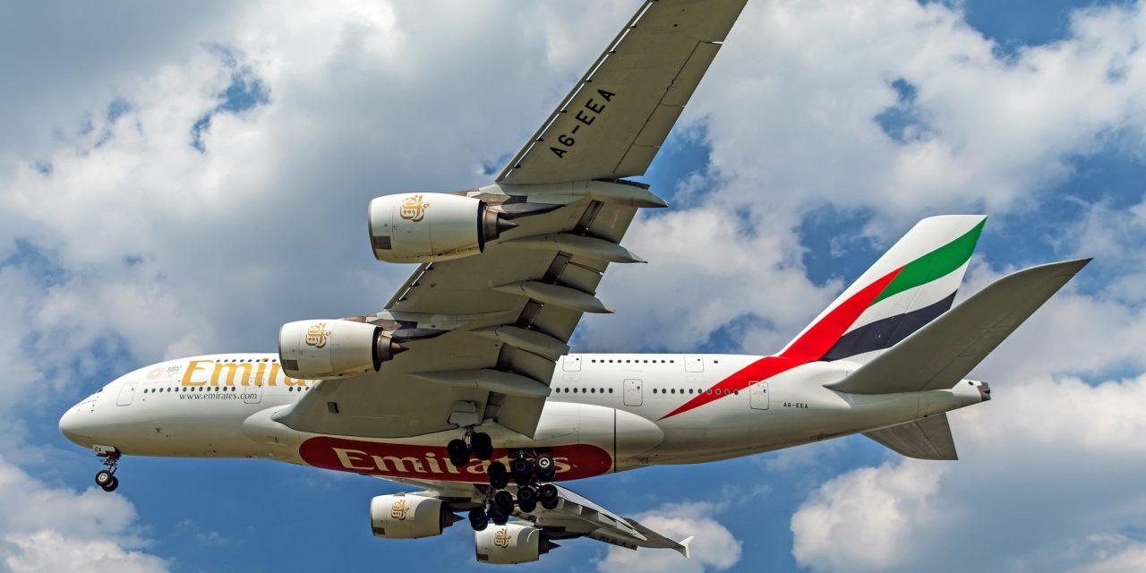 """Emirates, tornano gli Airbus A380. """"Five-star-rating dai suoi clienti"""