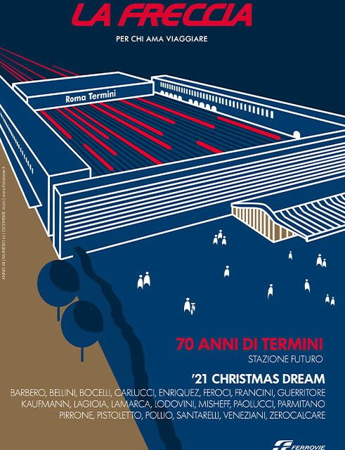 """Gruppo FS, """"La Freccia"""" con cover che festeggia i 70 anni di Roma Termini"""