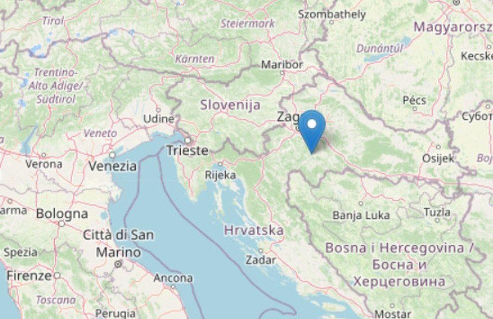 Ancora terremoto in Croazia. Scossa di magnitudo 5,2 a sud-est di Zagabria