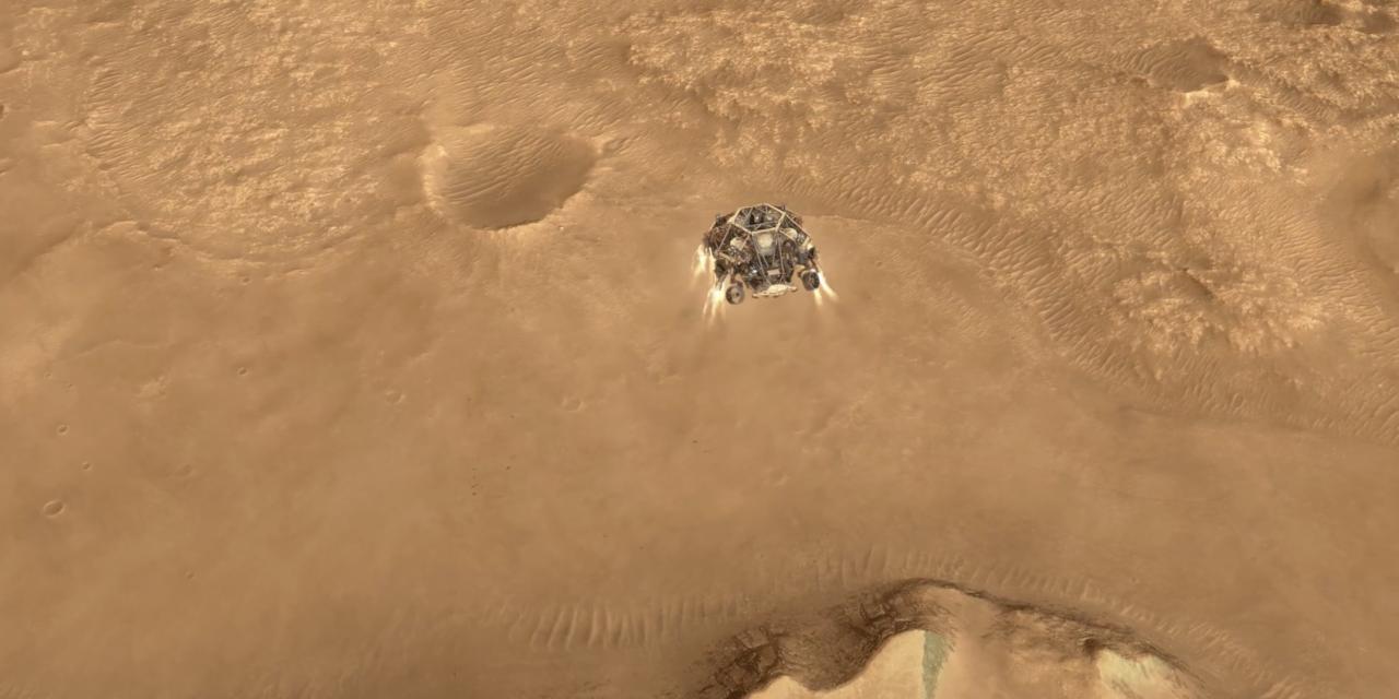 """""""Perseverance"""" con perfetta manovra si è posato sul suolo di Marte alle 21,55"""
