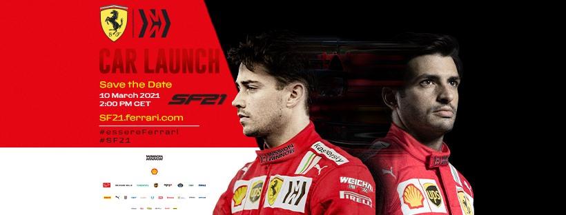 F1, la Ferrari SF21 sarà presentata mercoledì 10 marzo alle ore 14