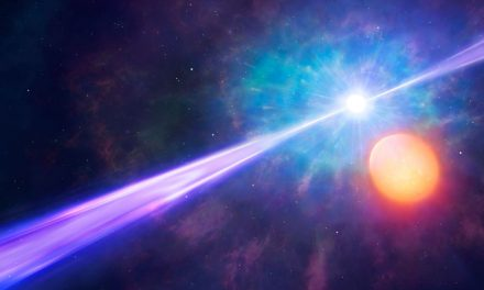 Raggio cosmico nella Via Lattea
