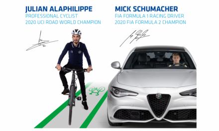 FIA-UCI, Mick Schumacher e Julian Alaphilippe insieme per sicurezza stradale