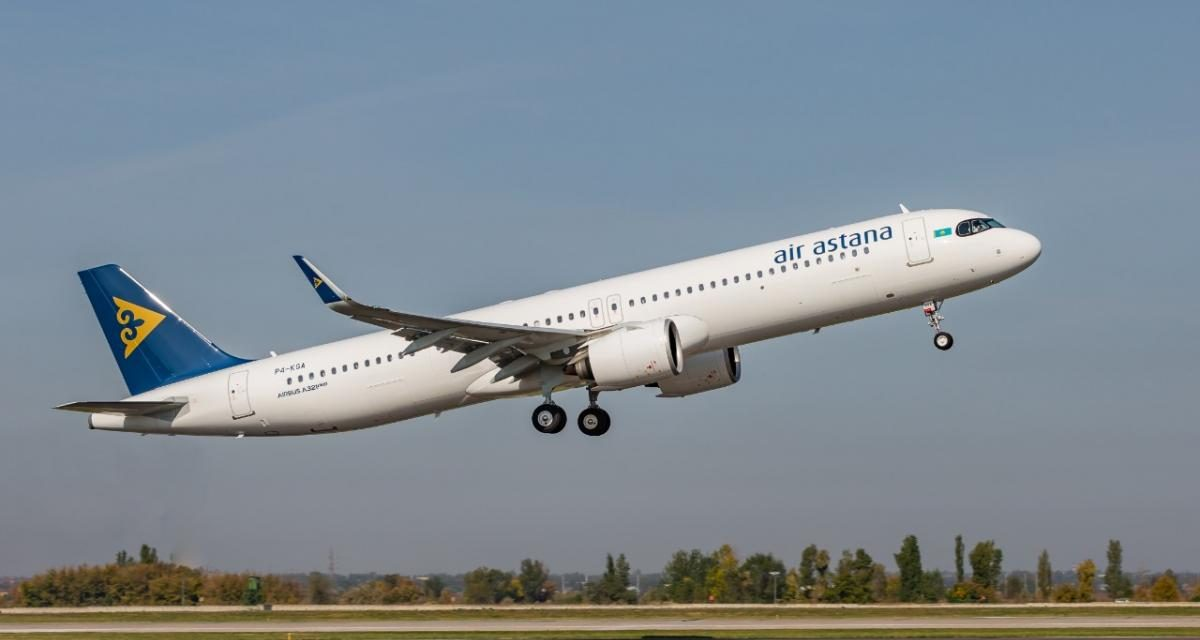 Air Astana, quinto Airbus A321LR (Long Range)