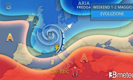 """3BMeteo: """"Maltempo e caldo africano fino al weekend del 1 Maggio"""""""