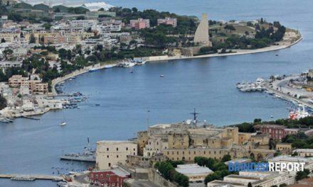 Brindisi porto : la Via nuovi fondali a Costa Morena e Sant'Apollinare