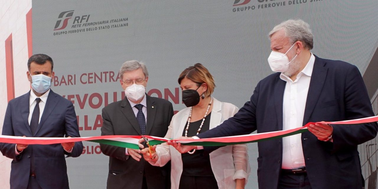Gruppo FS, RFI infrastrutture: inaugurata ristrutturazione di Bari Centrale