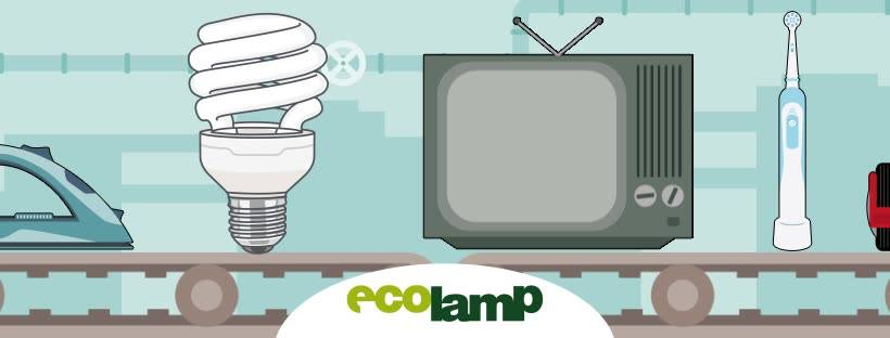 Ecolamp, 1800 tonnellate di RAEE riciclate in primo semestre 2021